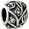 Family Tree Of Life Peridot Crystal Black Silver Beads Charms Bracelets