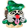 22K Golden April Fools Day Emerald Green Enamel Clown All Brand Two Tone P...