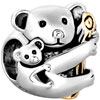 22K Cute Koala Animal All Brand Two Tone Plated Beads Charms Bracelets