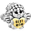 22K Cute Baby Angel Holding Heart Best Mom Love For Mother Two Tone Plated...
