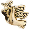 22K Cute Dove Of Peace All Brand Gold Plated Beads Charms Bracelets
