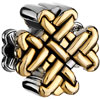 22K Silver Chinese Knot All Brand Gold Plated Beads Charms Bracelets