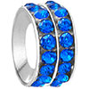 Round With Sapphire Rhinestone Crystal All Brands Beads Charms Bracelets