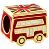 22K Cute Garnet Red London Double Decker Bus All Brand Gold Plated Beads Charms Bracelets