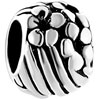 Flower And Stripes Silver Plated Beads Charms Bracelets