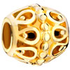 22K Hollow All Brand Gold Plated Beads Charms Bracelets