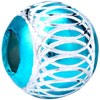 Blue Topaz White Stripes Aluminum Beads Charms Bracelets