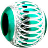 Green Aluminum Fit All Brands Beads Charms Bracelets