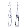 Ball Shape Sterling Silver Dangle Earrings