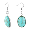 May Green Fringe Dangle With Waterdrop Turquoise Earrings