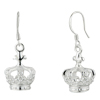 King  Crown  Dangle Sterling  Silver  Earrings