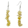 Shell Stone Nugget Chips Beads Dangle Earrings