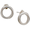 Simple Sterling Silver Intertwined Circle Stud Earrings