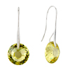 November Yellow Crystal Circle Earrings