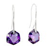 February Purple Pentagram Crystal Earrings