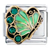 May Birthstone Butterfly Italian Charm