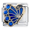 September Birthstone Butterfly Italian Charm