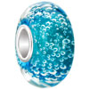 Aquamarine Blue Ball Clear White Dots Fit All Brand Murano Glass Beads Charms Bracelets Brands
