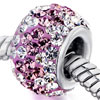 Gorgeous Pink Clear Crystal April October Birthstone Purple Fit All Brands...