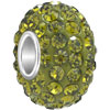 Jewelry 925  Sterling Silver Peridot Green Fit All Brands Beads Charms Bra...