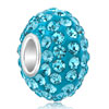 Aquamarine Fit All Brands &  Beads Charms Bracelets