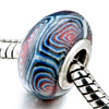 Blue White And Red Whirlpool Polymer Clay Beads Charms Bracelets