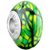 Green Stipes Yellow Spots Dotted Polymer Clay Beads Charms Bracelets