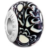 Black And White Zebras Murano Glass Beads Charms Bracelets