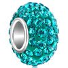 Blue Zircon December Birthstone Crystal Sterling Silver Solid Core Fit All...