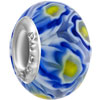 Blue And Yellow Flower All Brands Murano Glass Beads Charms Bracelets