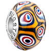 Colorful Circle Roundlim 925 Sterling Silver Solid Core Millefiori Fits Murano Glass Beads Charms Bracelets Fit All Brands