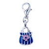 925  Sterling Silver Sapphire Blue Handbag Lobster Clasp Charm For Bracele...