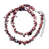 Genuine Brick Red Semi Precious Gemstone Nugget Chips Stretch Necklace For...