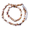 Genuine Sand Rock Semi Precious Gemstone Nugget Chips Stretch Necklace For...