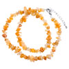 Topaz Yellow Genuine Special Semi Precious Gemstone Nugget Chips Stretch N...