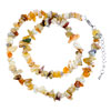 Colorful Genuine Unique Semi Precious Gemstone Nugget Chips Stretch Neckla...