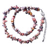 Genuine Lifelike Semi Precious Gemstone Nugget Chips Stretch Necklace For ...