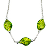 Green Helix Classic  Murano Glass  Pendant Necklace