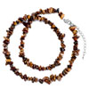 Chic Brown Charm Nugget Chips Stone Stretch Pendant Necklace Bead Necklace
