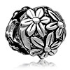 Bright Chrysanthemum Silver Plated Beads Charms Bracelets