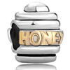 Golden Honey Two Tone Plated Beads Charms Bracelets
