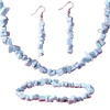 White Turquoise Earring Bracelets Necklace Set Pendant