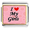 I Heart My Girls Photo Charm Photo Italian Charm