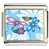 Dragonflies And Flowers Charm Photo Italian Charm