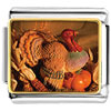 November Topaz Color Turkey Charm Photo Italian Charm