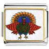 Folk Art Turkey Charm Photo Italian Charm
