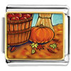 Autumn Pumpkin Charm Photo Italian Charm