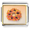 Autumn Leaf Wreath Charm Photo Italian Charm