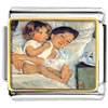 Mary Cassatt' S Breakfast In Bed Charm Photo Italian Charm