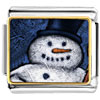 Snowman Smile Charm Photo Italian Charm